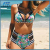 2017 Hot Selling Sexy Ladies Crochet Two-Piece Printed Bikini Swimwear