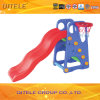 Kids′ Plastic Toy Slide with Basketball Stands (PT-040)