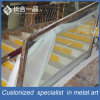 Customized Manufacture Stainless Steel with Glass Handrial for Hotel Lobby