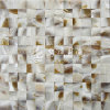 Freshwater Shell Nature Brown Color 25*25mm Arch Face Mosaic Tile