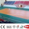 Indoor Lake Blue Vinyl Sports Floor Roll for Volleyball Court Gem Pattern 4.5mm