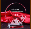 Glass Crystal Trophy Award with Star