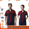 100%Cotton Good Quality Summer Staff Working Uniform with Short Sleeve