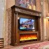 Hotel Furniture TV Stand Sculpture MDF European Electric Fireplace (326B)