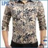 Flora Printing Shirt Slim Shirt with Long Sleeves