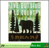 a Bear Metal Signs, Metal Building Signs, Club Decorationtin Sign Wall Hanging Metal Sign C125