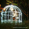 Creative Design Christmas Decorations and Lighting Bird Cage Motif Lights for Holidays