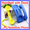 Native Union Retro Pop Handset for Phone with Dock Headphone for PC Skype