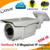 Weatherproof Varifocal 1.0 Megapixel Onvif Network IP Camera (60M IR)
