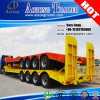 4 Axles 80tons Hydraulic Low Bed Semi Truck Trailer