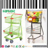 Canadian American Style Double Basket Shopping Trolley Cart