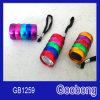 6LED Mini Aluminium Colorful Torch Flashlight