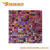 Wall Decorative Red Glass Shinning Mosaic