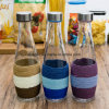 Factory Wholesale High Quality Colorful Water Olive Oil Juice Glass Bottle (100013)