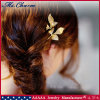 Bobby Pin Made of Casing Leaf Shape in Plating Gold