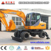 8 Ton Wheel Excavator for Sale with 4X4wd