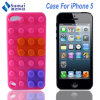 Mobile Phone Accessories Flexible Building Block Silicone Case for iPhone 5