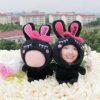 Wholesale Heart Black Rabbit 3D Face Doll