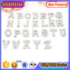 Alloy Sliding Crystal Letter Alphabet Pendant for Necklace