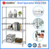 Adjustable Metal Furniture Chrome Wire Shelving Rack for Home