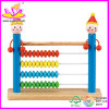2015 Good Quality Wooden Counting Toy, Hot Sale Wooden Math Counting Toy, Educational Toy Color Clown Abacus Counting Toy W12A004