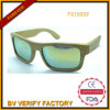Bamboo Sunglasses with Mirrored Lens Fashion Style (FX15059)