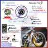 Magic Pie Electric Bike Conversion Kit Golden Motor Hub Motor E-Bicycle Kit with Bluetooth Display Available for Android/Ios 250W-1000W E-Bike Kit
