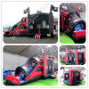 Inflatable Pirate Ship, Inflatable Combo Slide, Bouncy House with Water Slide