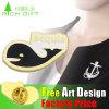 Promotional Souvenir Custom Zoo Shaped Metal Pin Badge Plane