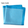 Fashionable Silk Polyester Dots Flower Printed Pocket Square Hanky Handkerchief (SH-001)