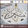 Flower Design Beige Marble Stone Water Jet Pattern/Medallion for Flooring