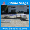 Portable Stage with Wheelchair Ramp with Landing and Guard Rails