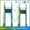 2ton 3m Hydraulic Fixed Vertical Guide Rails Cargo Lift Platform