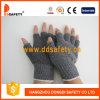 Ddsafety 2017 Knitted Black PVC Gloves