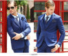 2016 Factory Direct Sales Blue Coat Pant Men Suit