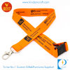 Supply High Quality Flat Polyester Screen Printed Lanyard at Factory Price From China