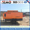 Heavy Earth Crawler Rig Use Portable Diesel Driven Air Compressor