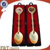 Plating Gold Printing Logo Epoxy Copper Spoon for Souvenir