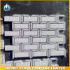 White & Gray Honed Marble Mosaic Tiles