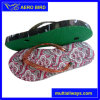 Colorful Print PE Sole Slipper with PVC Strap