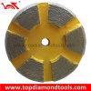 Diamond Grinding Segments on Diameter 3 Inch Metal Disc for Concrete Polishing
