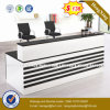 Steel Metal Modesty Panel Tempered Glass Reception Table/Desk (HX-8N2438)