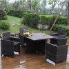 Rattan Bistro Chair Table Set with Big Table