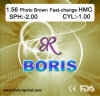1.56 Photochromic Brown Fast-Change Hmc 70/65mm Optical Lens