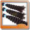 100% Human Hair of 5A Brazilian Curly Weave