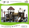 Wood Style Park Equipment with Slide for Kids (KQ20061A)