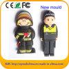PVC Policeman USB Flash Memory Firemen Customized Pen Drive (EG059)
