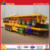 4 Axles 12.5m Long Container Flatbed Semi Trailer