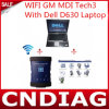High Quality WiFi Gm Mdi Tech3 Tech 3 Multiple Diagnostic Interface with DELL D630 Laptop Full Set Ready to Use