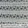 White Ruffle Stretch Lace Fabric (M5009)
